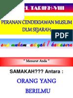 Peranan Cendekiawan Muslim Dalam Sejarah