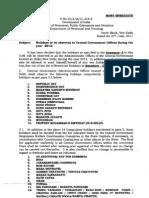 Govt Holiday List 12