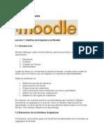 Moodle 1-Interfase de La Asignatura