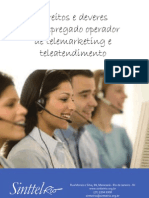 Cartilha Direitos e Deveres Do Empregado Operador de Telemarketing e Teleatendimento