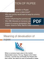 Devaluation of Rupee