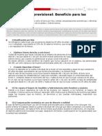 Ficha Reforma Previsional Beneficios Para Mujeres
