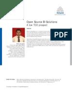 Open Source BI Solutions