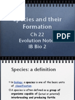 Species and Their Formation