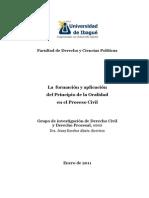 La Formacion y Aplicacion Del Principio de La Oralidad en El Proceso Civil