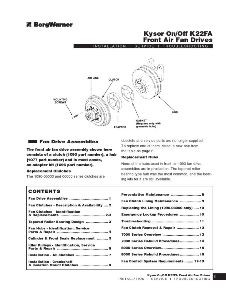 kysor fan clutch nut (hardware) Carrier Fan Clutch