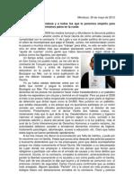 Carta abierta Ricardo Ferreyra mayo 2012