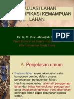 Evaluasi & Klasifikasi Kemampuan Lahan