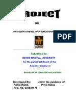 Rahul Raina Report