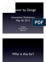 Behavior Engineering (Innovation Endeavors)