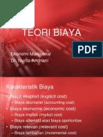 Ekonomi Manajerial Teori Biaya