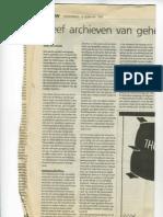 Geef Archieven Van Geheime Diensten Vrij - Trouw - 19 Februari 1998
