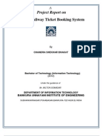 Online Railway Ticket Reservation Docomentation by Chandra Shekhar Bhakat