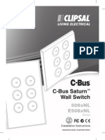 C-Bus Saturn Wall Switch Installation Instructions 2