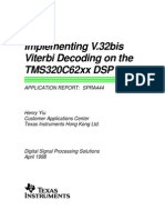 Implementing V32bis Viterbi Decoding on TheTMS320C62xx DSP