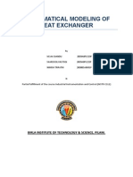 Mathematical Modelling of Heat Exchanger(Mini Report)