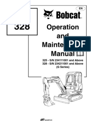 Bobcat 325 Service | Steering | Vehicles