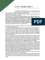I. Droit et société civile