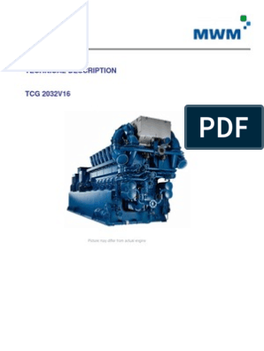 1 Technical-Description Mwm 2032v16-2 | Piston | Ignition System