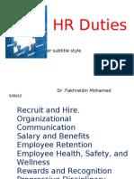 Human Resources Duties