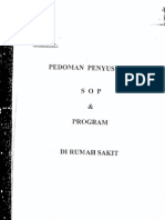 Pedoman Penyusunan Sop Program Di RS