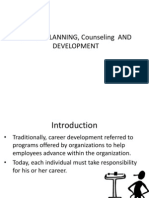 Career Planning, Counseling and Development