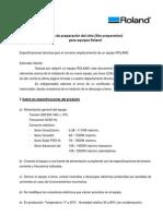Requerimientos y consejos de instalación Roland
