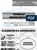 Teorias sociológicas II