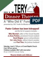 Mystery Dinner Theatre Poster - Crozet Baptist Church
