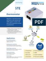Ethernet Thermometer HWg-STE FL En
