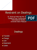 Restraint on Dealings