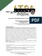 VAZQUEZ y FERNÁNDEZ, 2009, Del sujeto trascendentalizado al sujeto de la acción