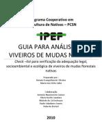 GUIA PARA ANÁLISE DE VIVEIROS DE MUDAS NATIVAS