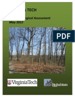 Virginia Tech Stadium Woods Forest Ecological Assessment