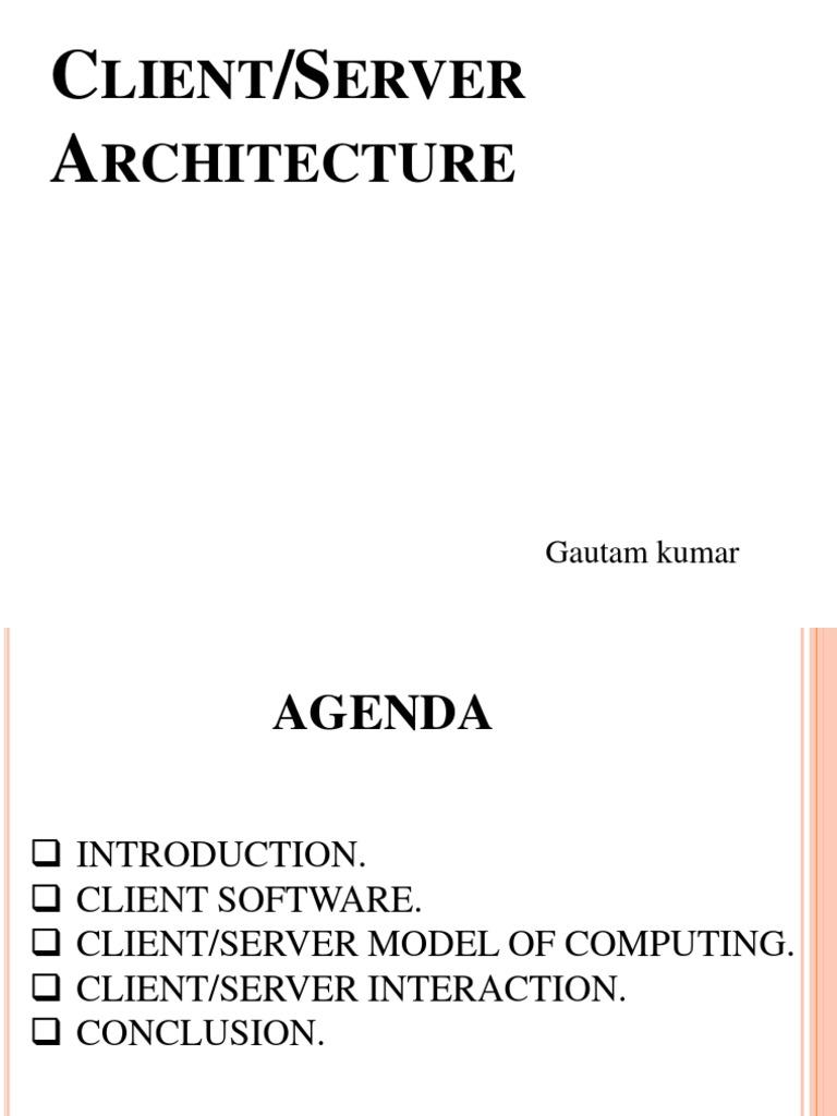 Client Server Architecture | Client–Server Model | Client