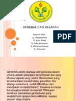 GENERALISASI SEJARAH