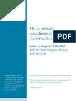 Asia Pacific Humanitarian Coordination Study 1
