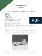 Designing a Balloon Car