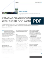 The RTF Document Creator