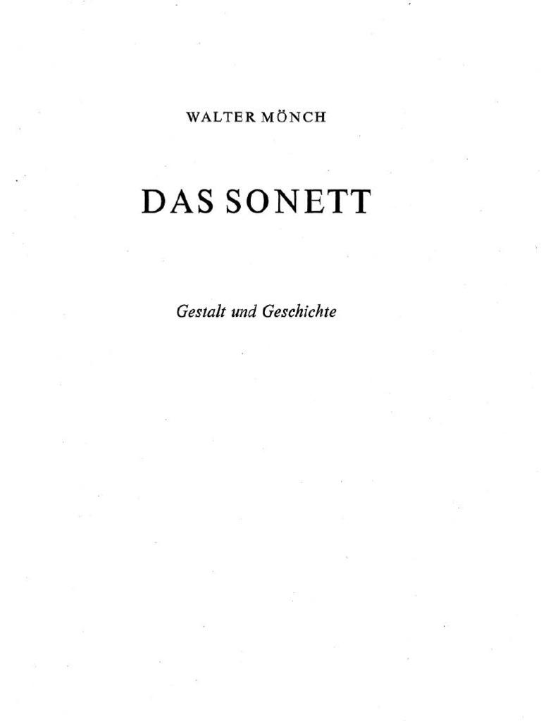 Monch-Das Sonett
