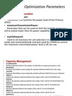 Important Optimization Parameters