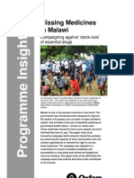 Missing Medicines in Malawi