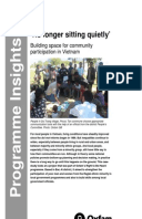 No Longer Sitting Quietly: Building space for community participation in Vietnam