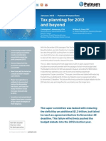 Putnam Tax Planning 2012 and Beyond