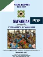 Annual Report Navsarjan 2008-2009