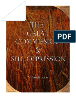 The Great Commission & Self-Oppression
