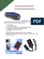 Il Carica Batterie Ad Energia Solare
