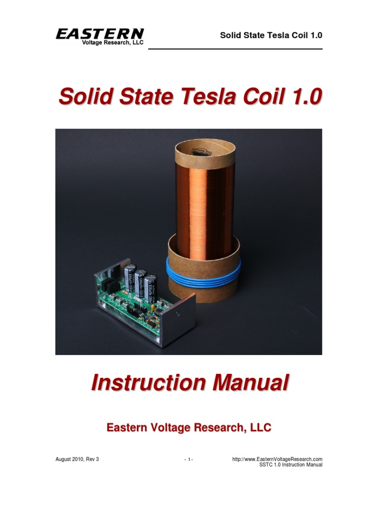 Sstc10 Manualrev3 Inductor Electric Arc The Schematic Of Sstc Solid State Tesla Coil With Mosfet