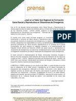 CARE Perú participó en el Taller Sub Regional de Formación salud