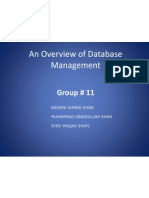 An Overview of Database Management